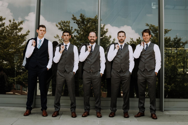 Groomsmen Photos - Classic Indianapolis Wedding - Canal 337 Wedding - The Overwhelmed Bride Wedding Blog