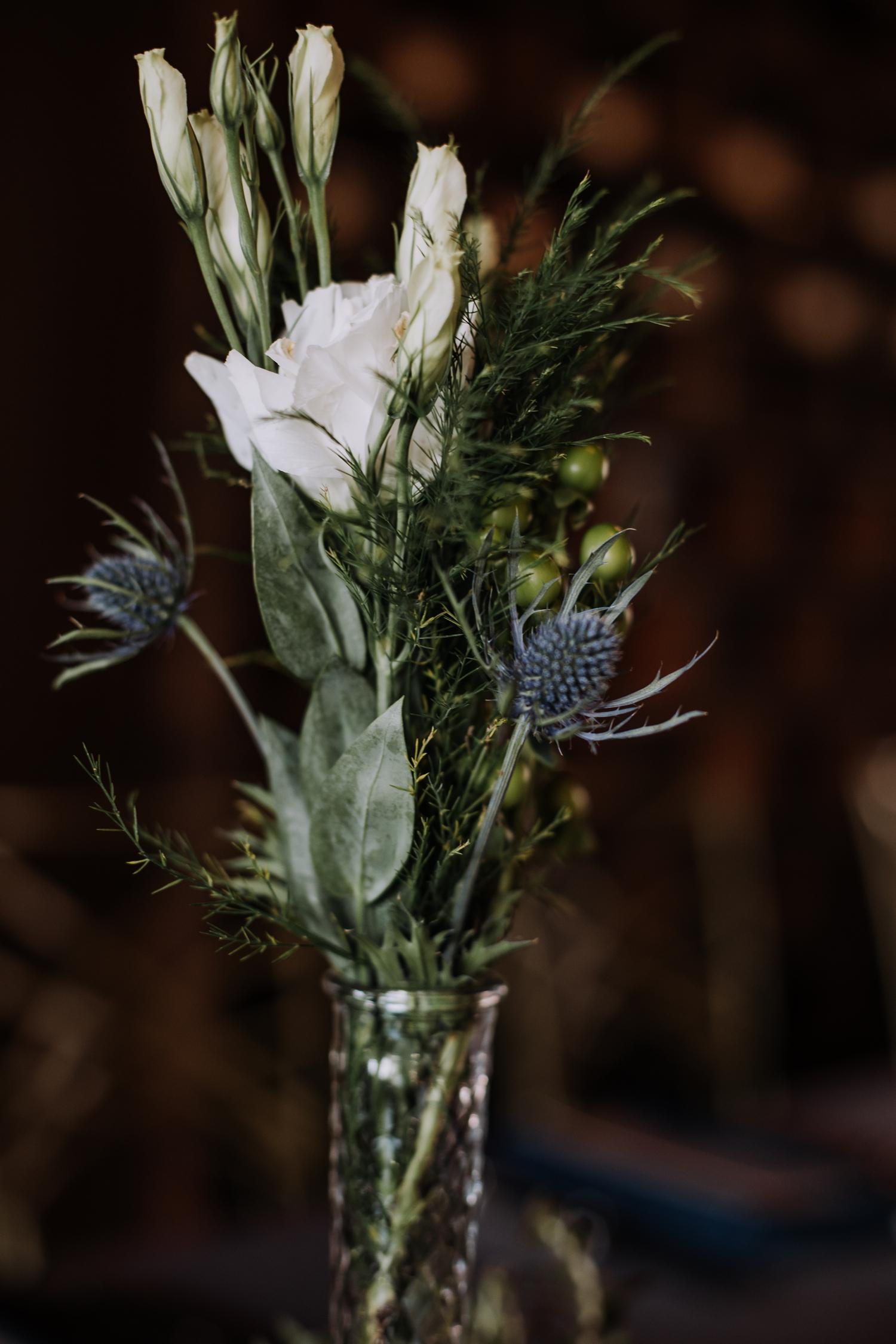 Wedding Centerpieces - Classic Indianapolis Wedding - Canal 337 Wedding - The Overwhelmed Bride Wedding Blog