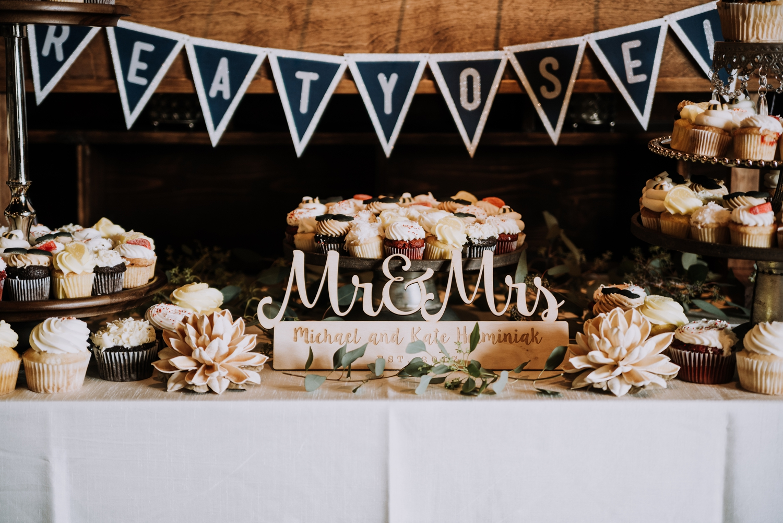 Wedding Dessert Bar - Classic Indianapolis Wedding - Canal 337 Wedding - The Overwhelmed Bride Wedding Blog