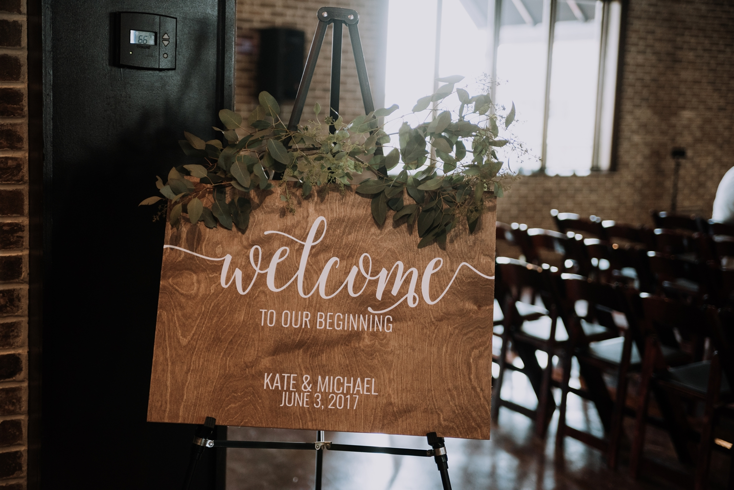 Wooden Wedding Signs - Classic Indianapolis Wedding - Canal 337 Wedding - The Overwhelmed Bride Wedding Blog