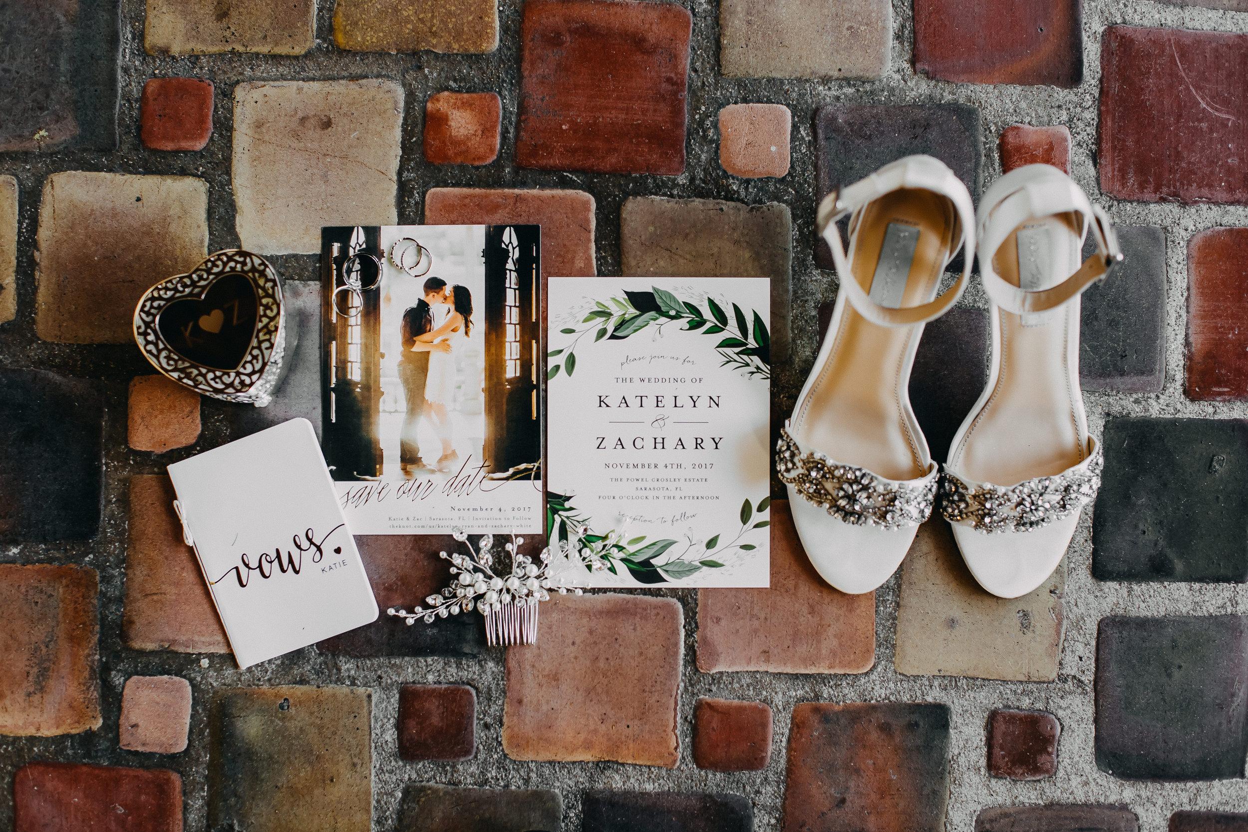 Gorgeous Wedding Invitations - Florida Estate Wedding - Powel Crowley Estate Wedding