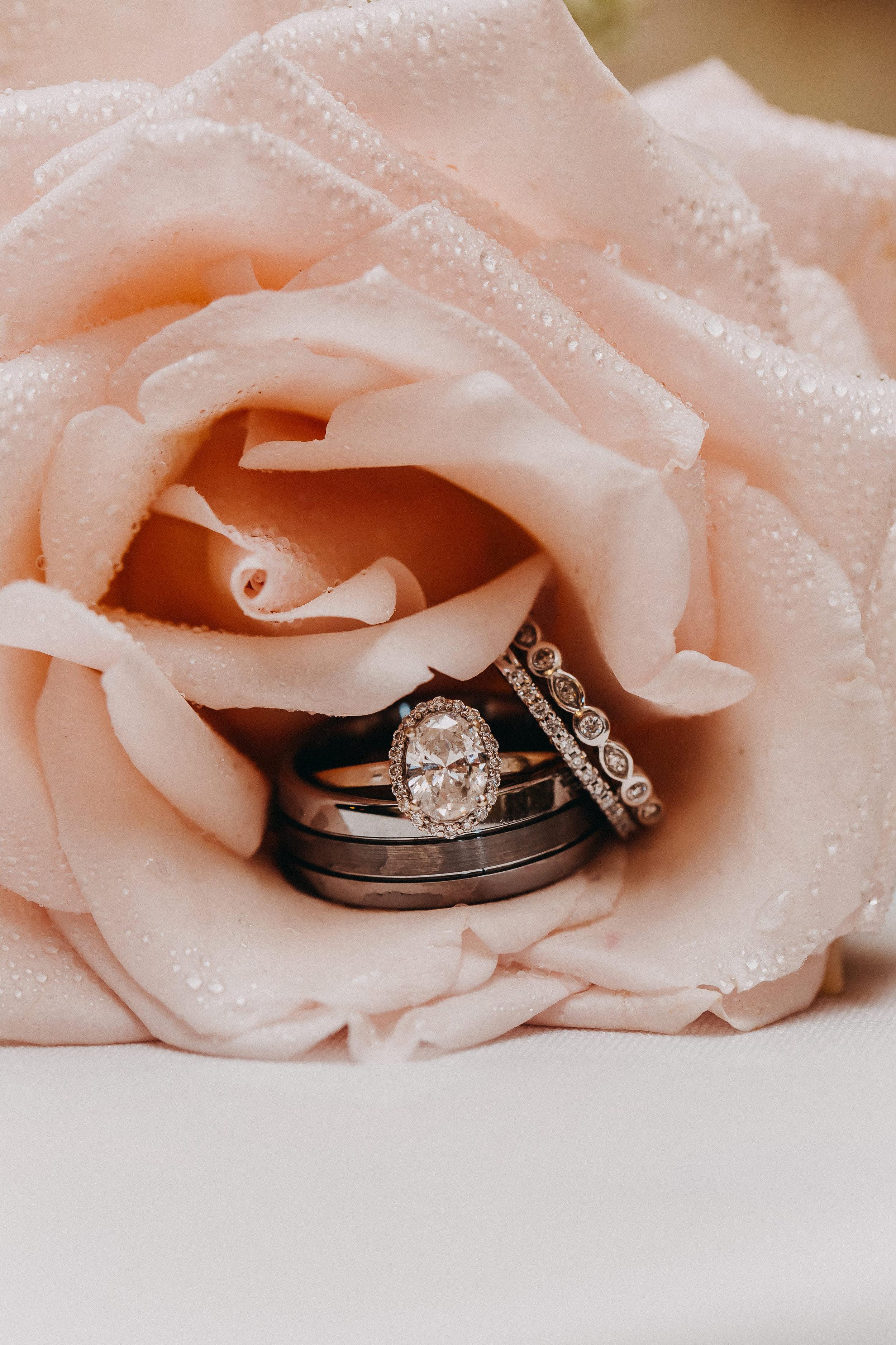 Solitaire Engagement Ring - Florida Estate Wedding - Powel Crowley Estate Wedding