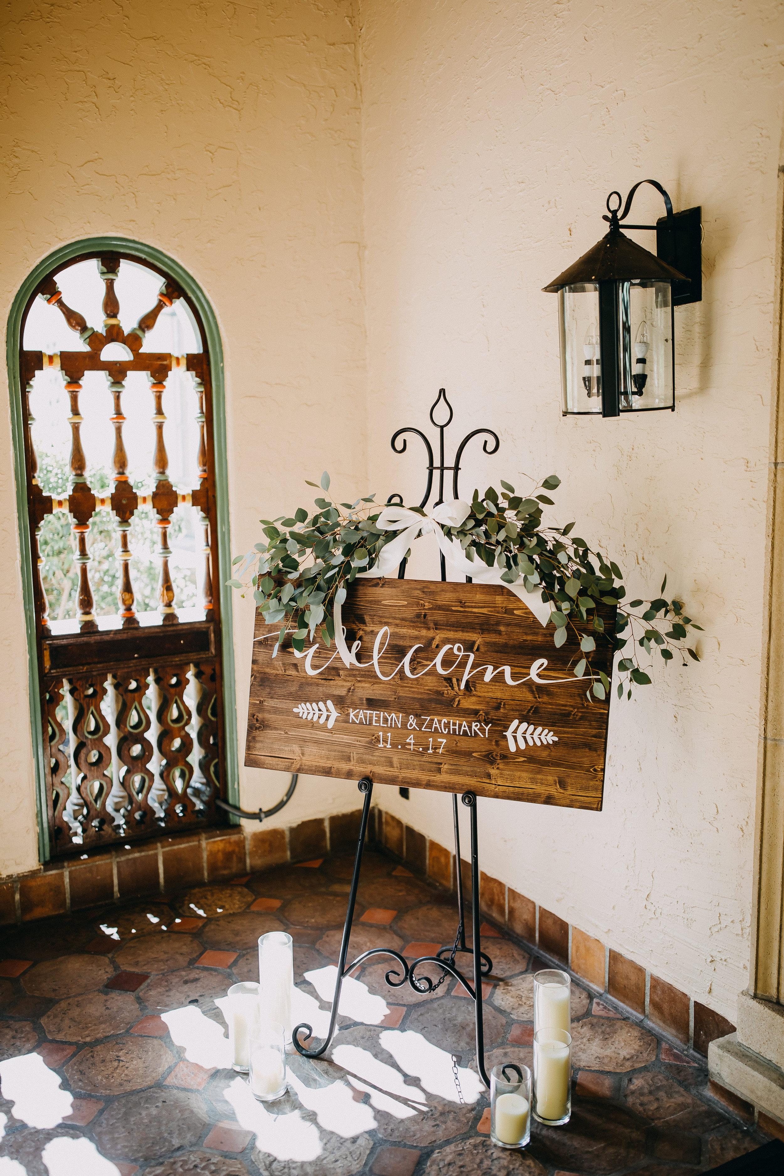 Wooden Wedding Signs - Florida Estate Wedding - Powel Crowley Estate Wedding
