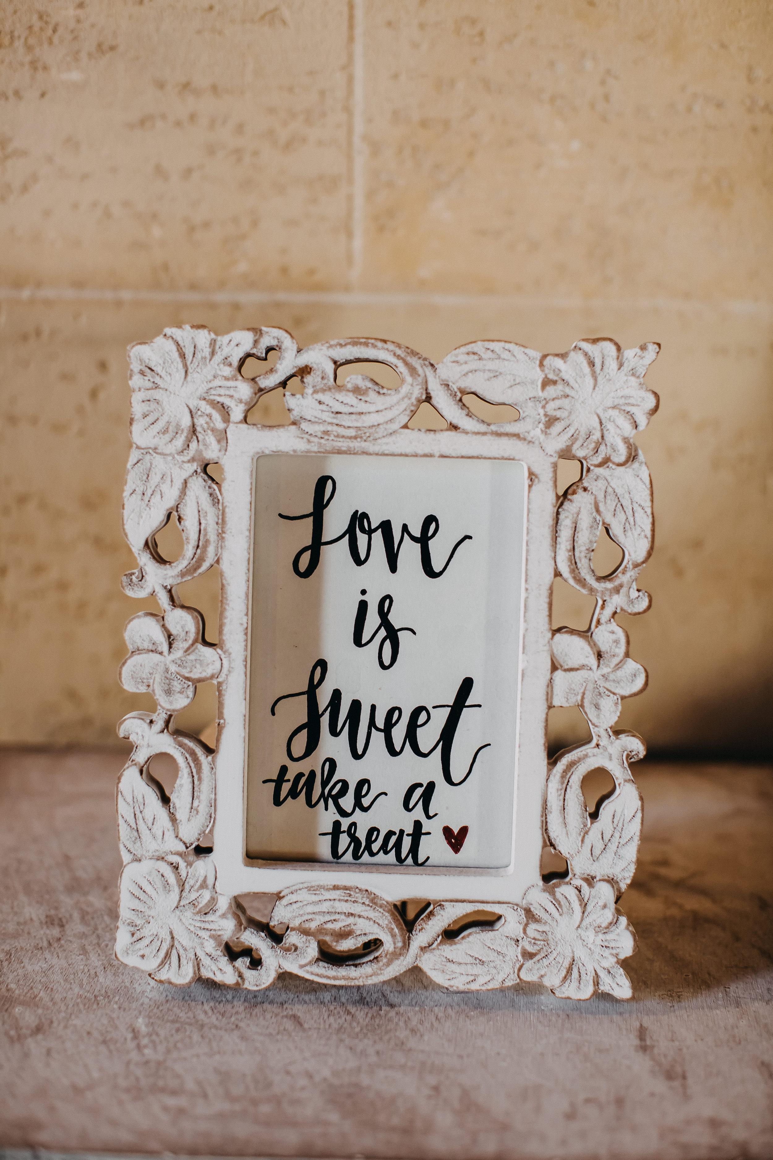 Dessert Bar Wedding Signs - Florida Estate Wedding - Powel Crowley Estate Wedding
