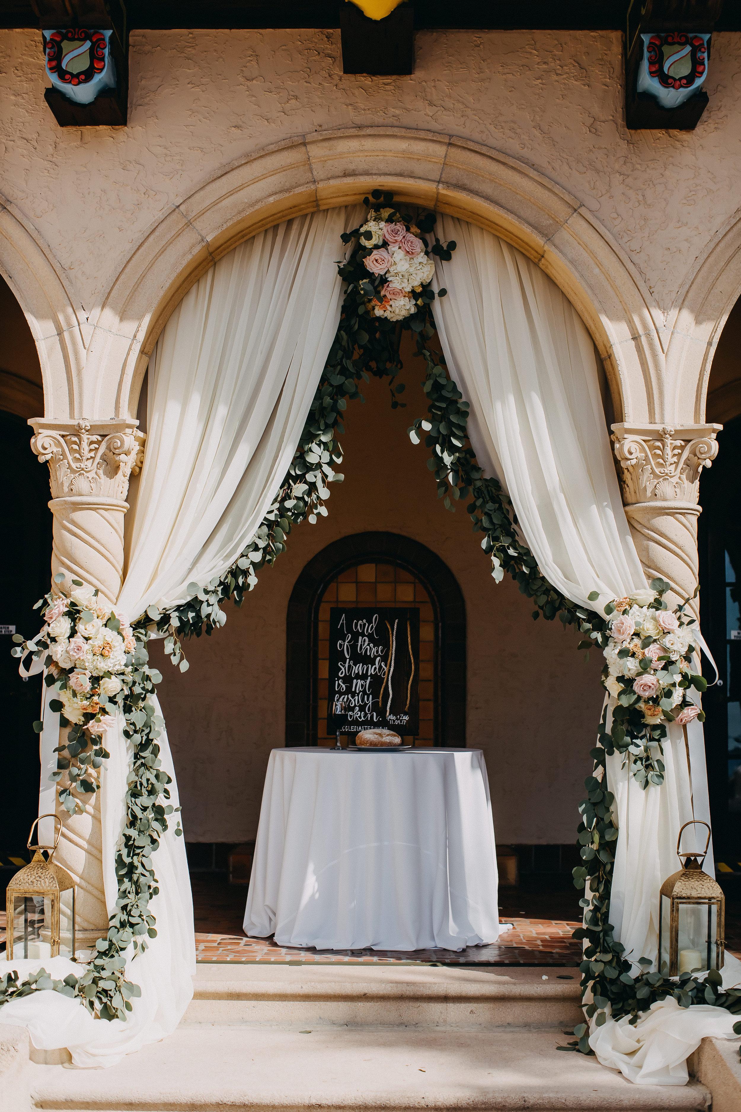 Gorgeous Estate Wedding Ceremony - Florida Estate Wedding - Powel Crowley Estate Wedding
