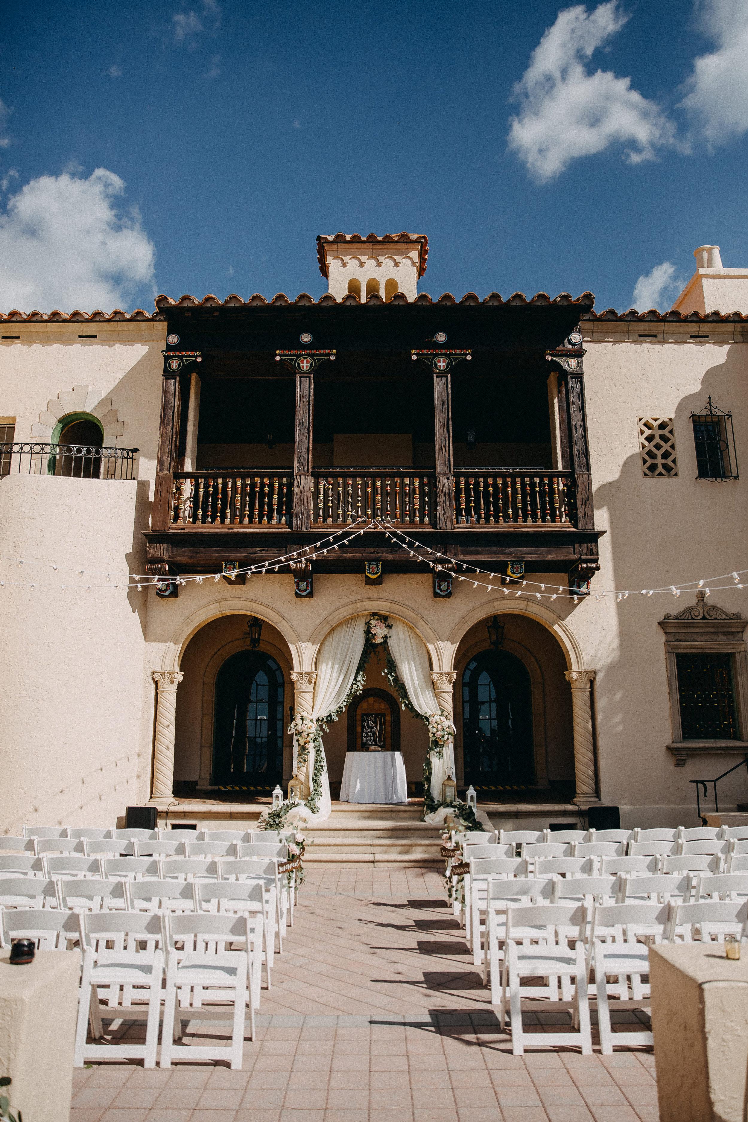 Gorgeous Wedding Ceremony Decor - Florida Estate Wedding - Powel Crowley Estate Wedding