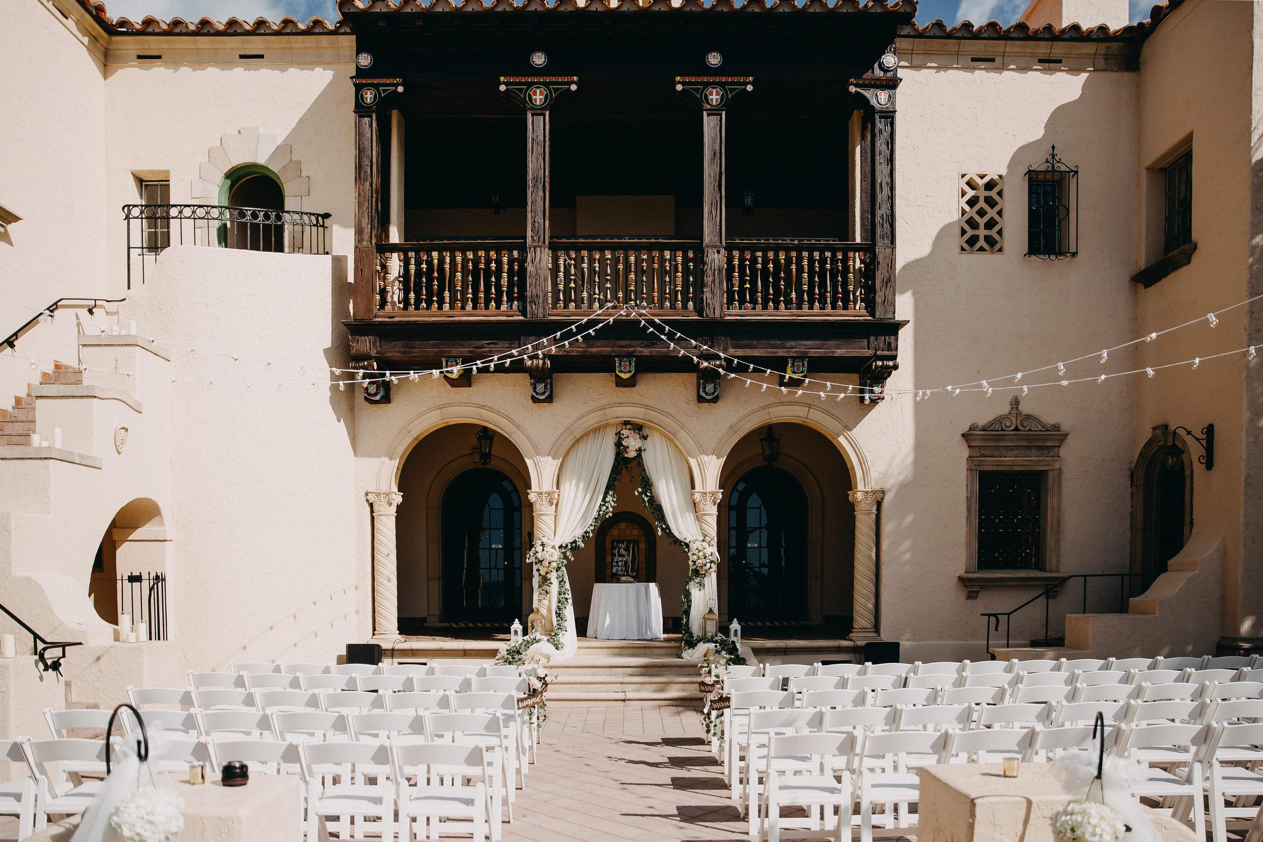 Courtyard Wedding Ceremony - Florida Estate Wedding - Powel Crowley Estate Wedding