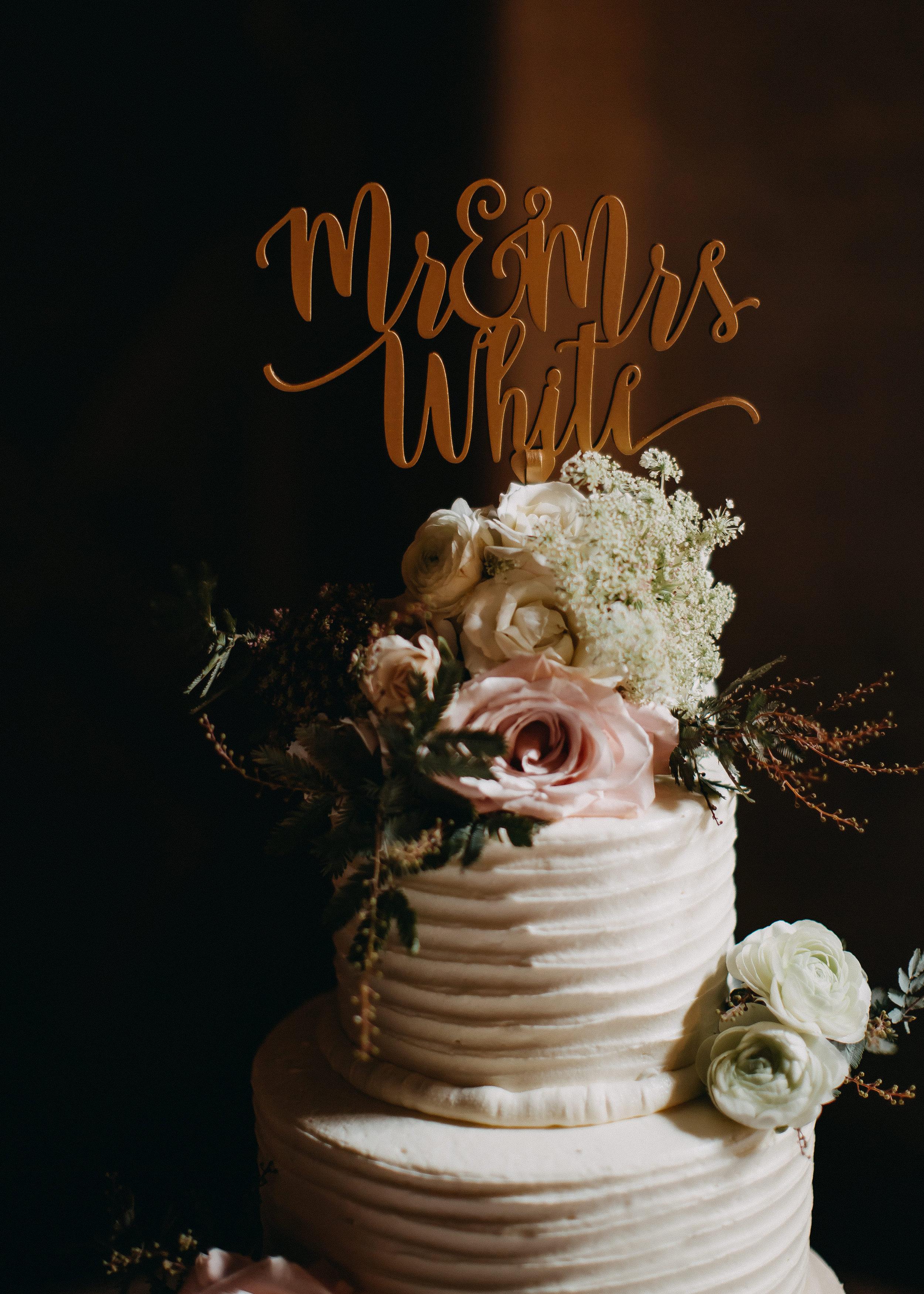 White Wedding Cakes - Florida Estate Wedding - Powel Crowley Estate Wedding