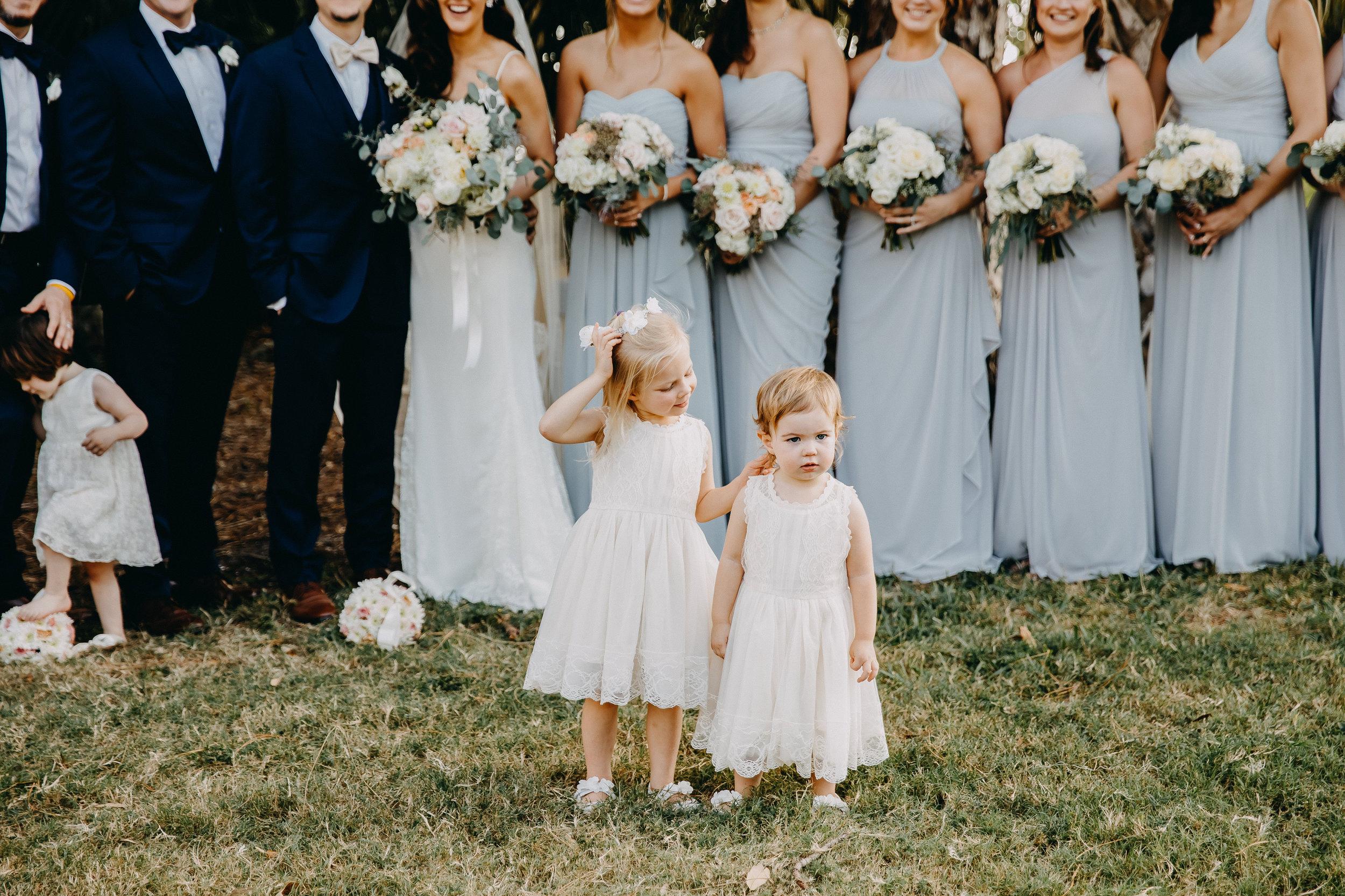 Cute Flower Girl Dresses - Florida Estate Wedding - Powel Crowley Estate Wedding