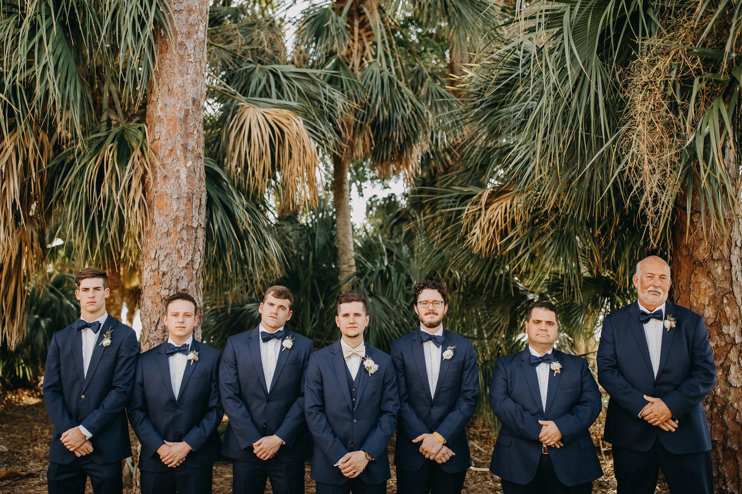 Groomsmen Photos - Florida Estate Wedding - Powel Crowley Estate Wedding