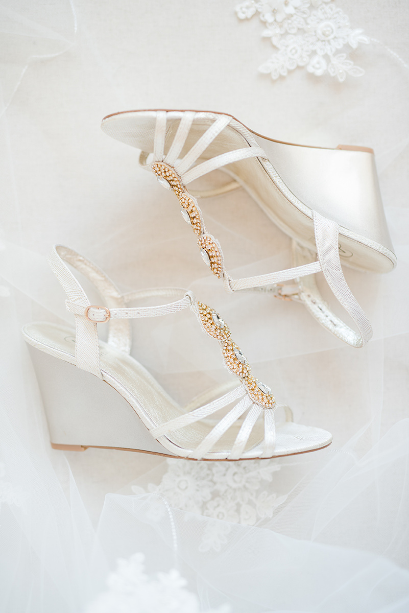 White Wedding Wedges - Classic Washington Garden Wedding - The Overwhelmed Bride Wedding Blog