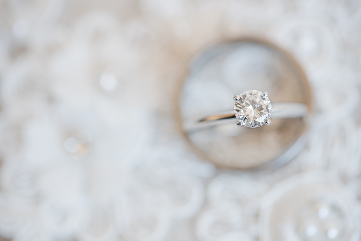 Solitaire Engagement Ring - Classic Washington Garden Wedding - The Overwhelmed Bride Wedding Blog