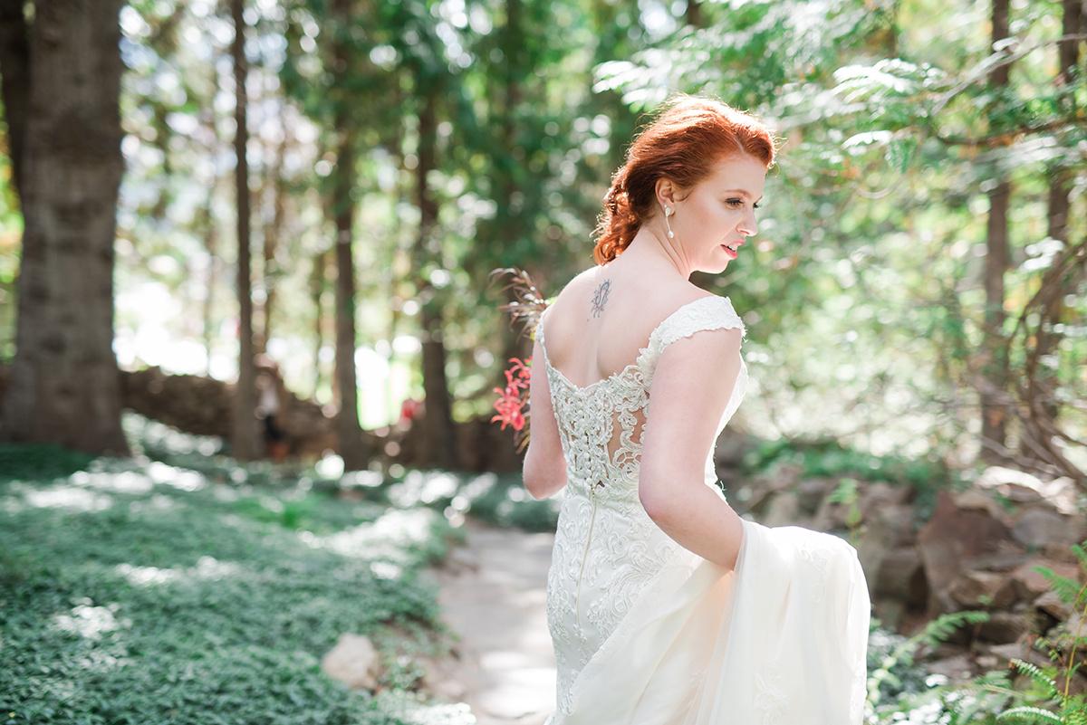 Gorgeous Lace Back Wedding Dress - Classic Washington Garden Wedding - The Overwhelmed Bride Wedding Blog
