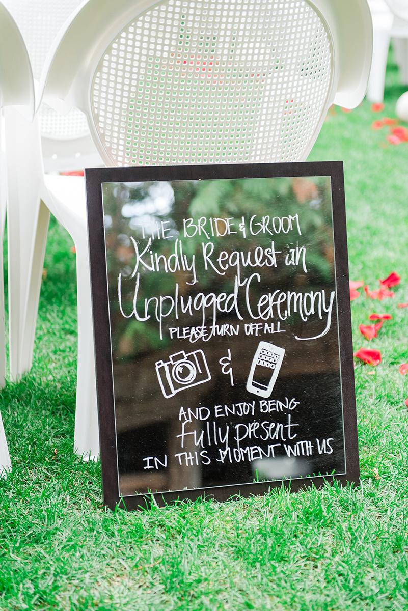Unplugged Wedding Signs - Classic Washington Garden Wedding - The Overwhelmed Bride Wedding Blog