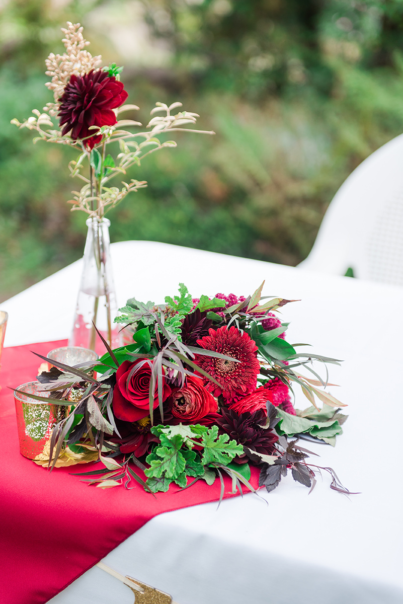 Red Wedding Decor - Classic Washington Garden Wedding - The Overwhelmed Bride Wedding Blog