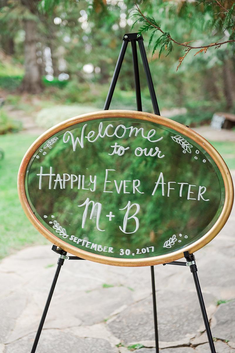 Mirror Wedding Signs - Classic Washington Garden Wedding - The Overwhelmed Bride Wedding Blog