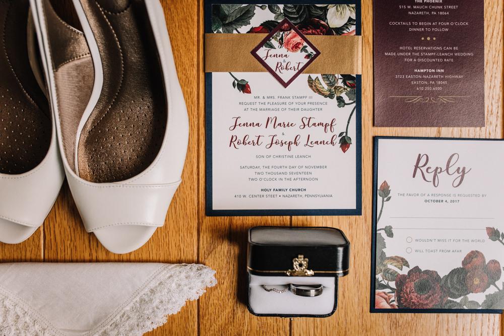 Fall Wedding Invitations - Pennsylvania Fall Wedding - The Overwhelmed Bride Wedding Blog
