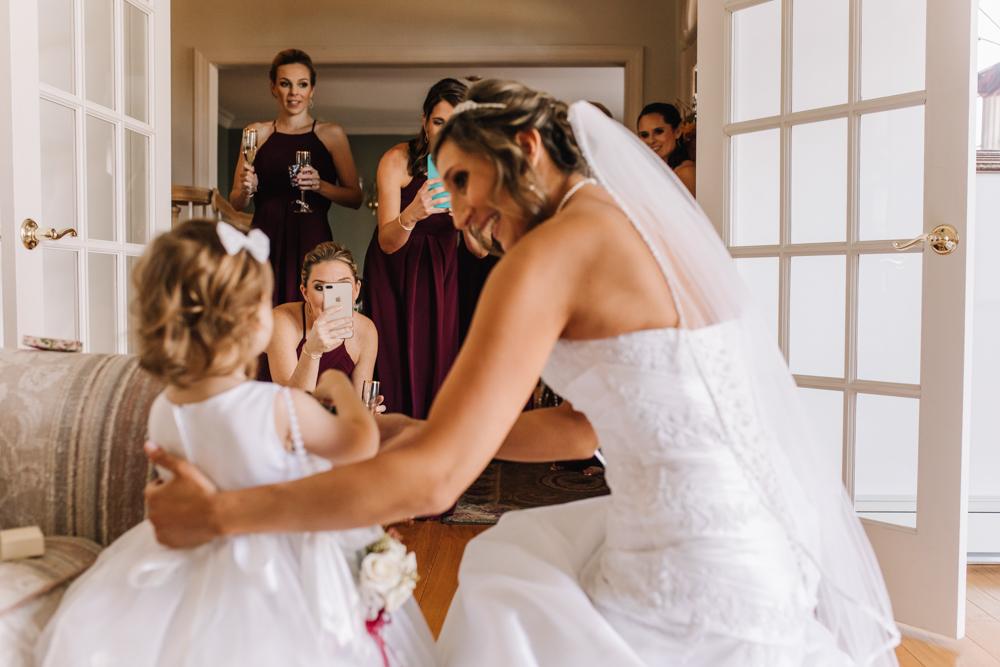 Cute Flower Girl Photos - Pennsylvania Fall Wedding - The Overwhelmed Bride Wedding Blog