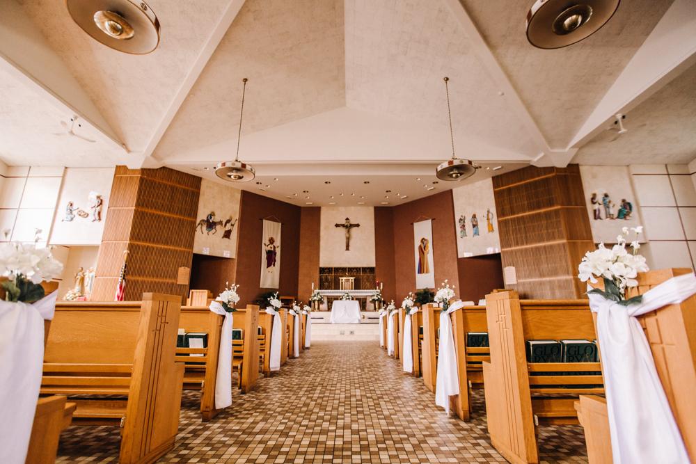 Church Wedding Ceremony - Pennsylvania Fall Wedding - The Overwhelmed Bride Wedding Blog