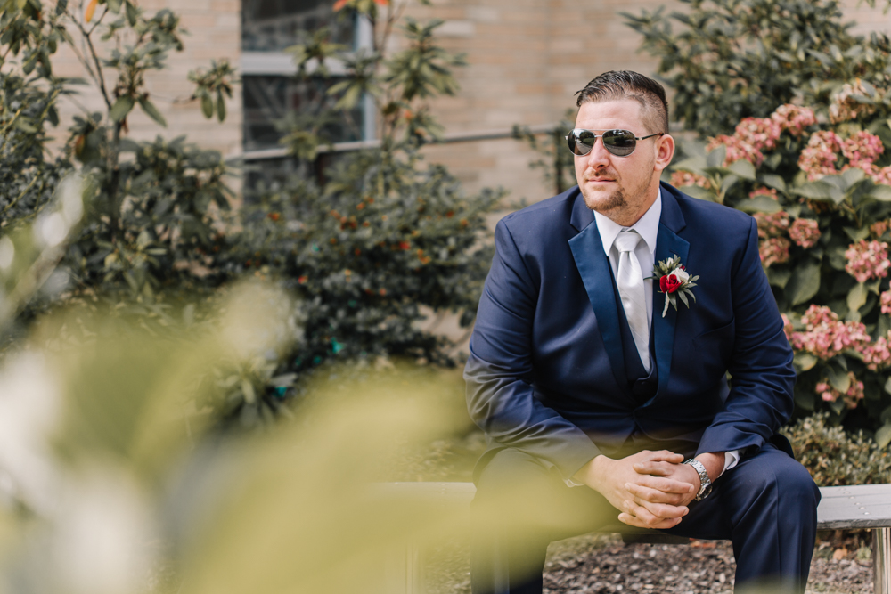 Dark Blue Groom-Groomsmen Suits - Wedding Inspiration - Pennsylvania Fall Wedding - The Overwhelmed Bride Wedding Blog