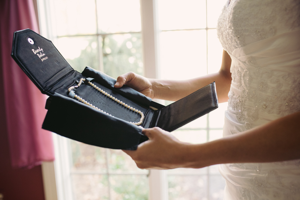 Bridal Necklaces - Pennsylvania Fall Wedding - The Overwhelmed Bride Wedding Blog