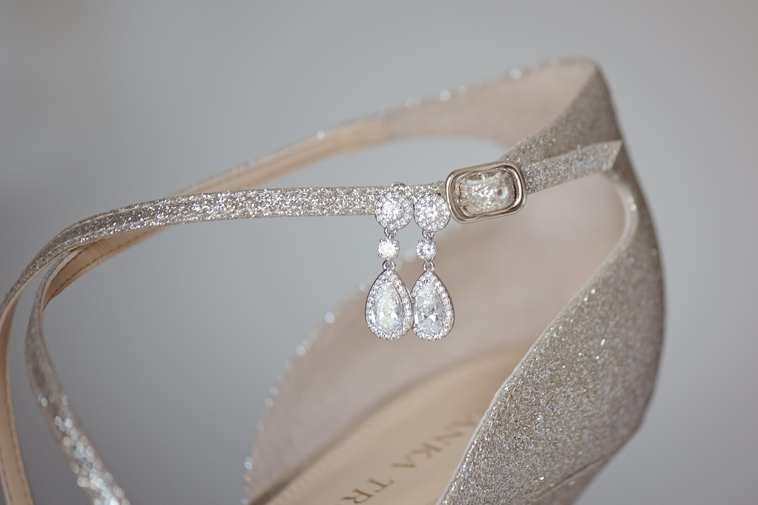 Champagne Wedding Shoes - Blush and White Wedding - Los Feliz Wedding