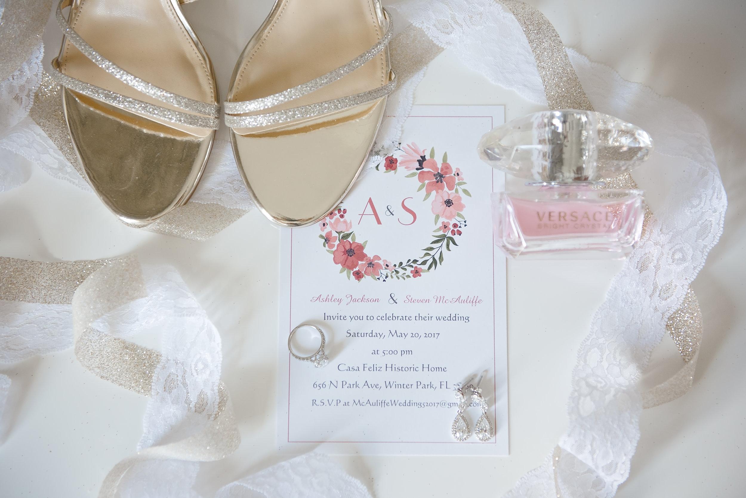 Floral Wedding Invitations - Blush and White Wedding - Los Feliz Wedding