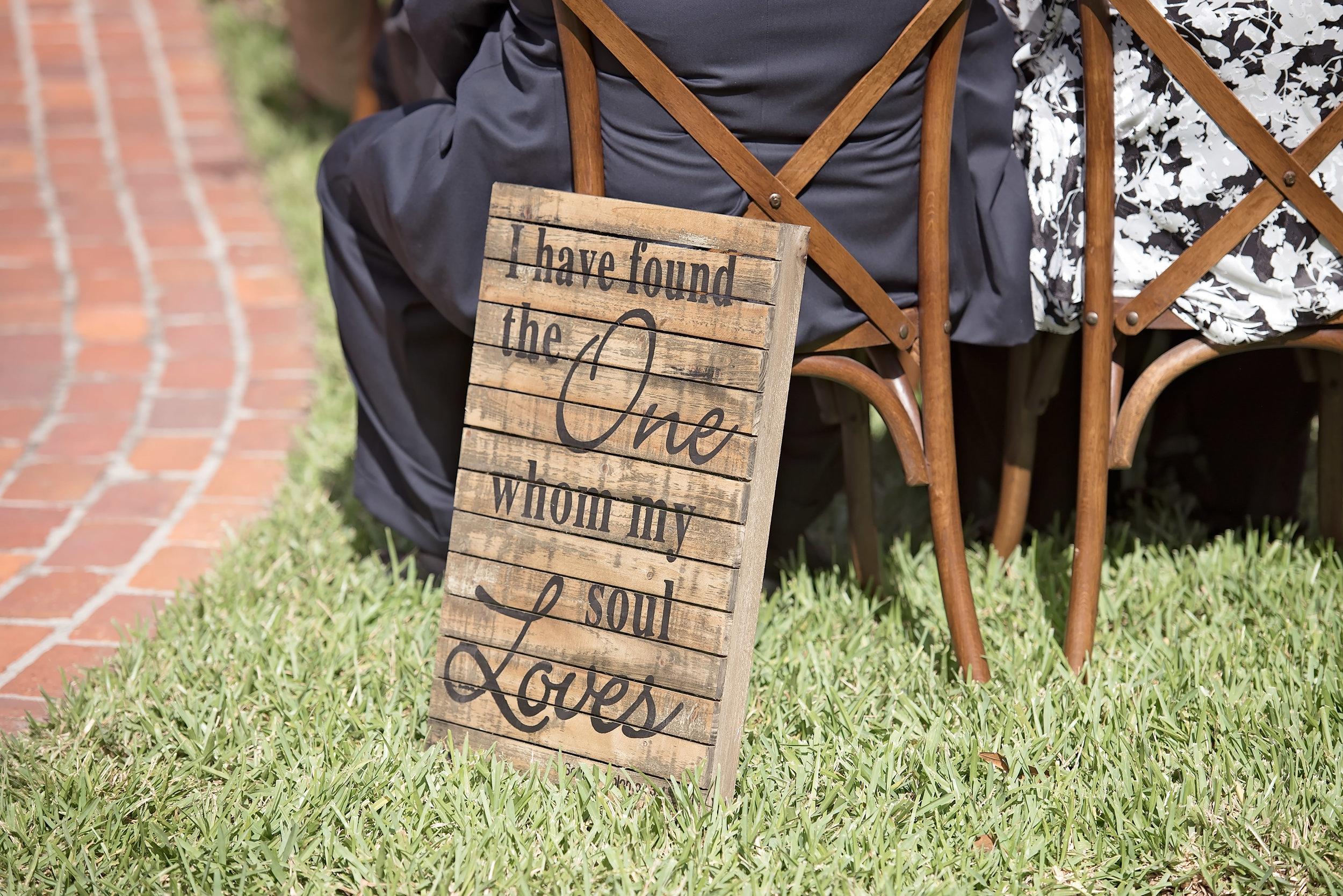 Wooden Wedding Signs - Blush and White Wedding - Los Feliz Wedding