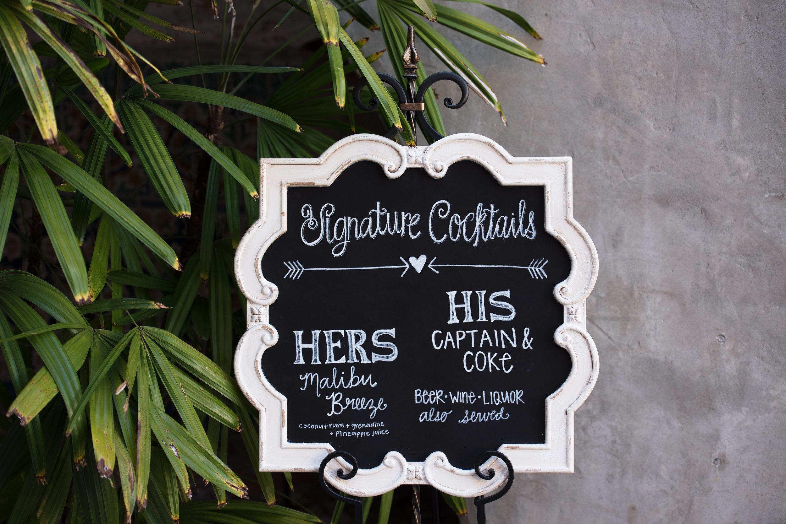 Chalkboard Wedding Signs - Blush and White Wedding - Los Feliz Wedding