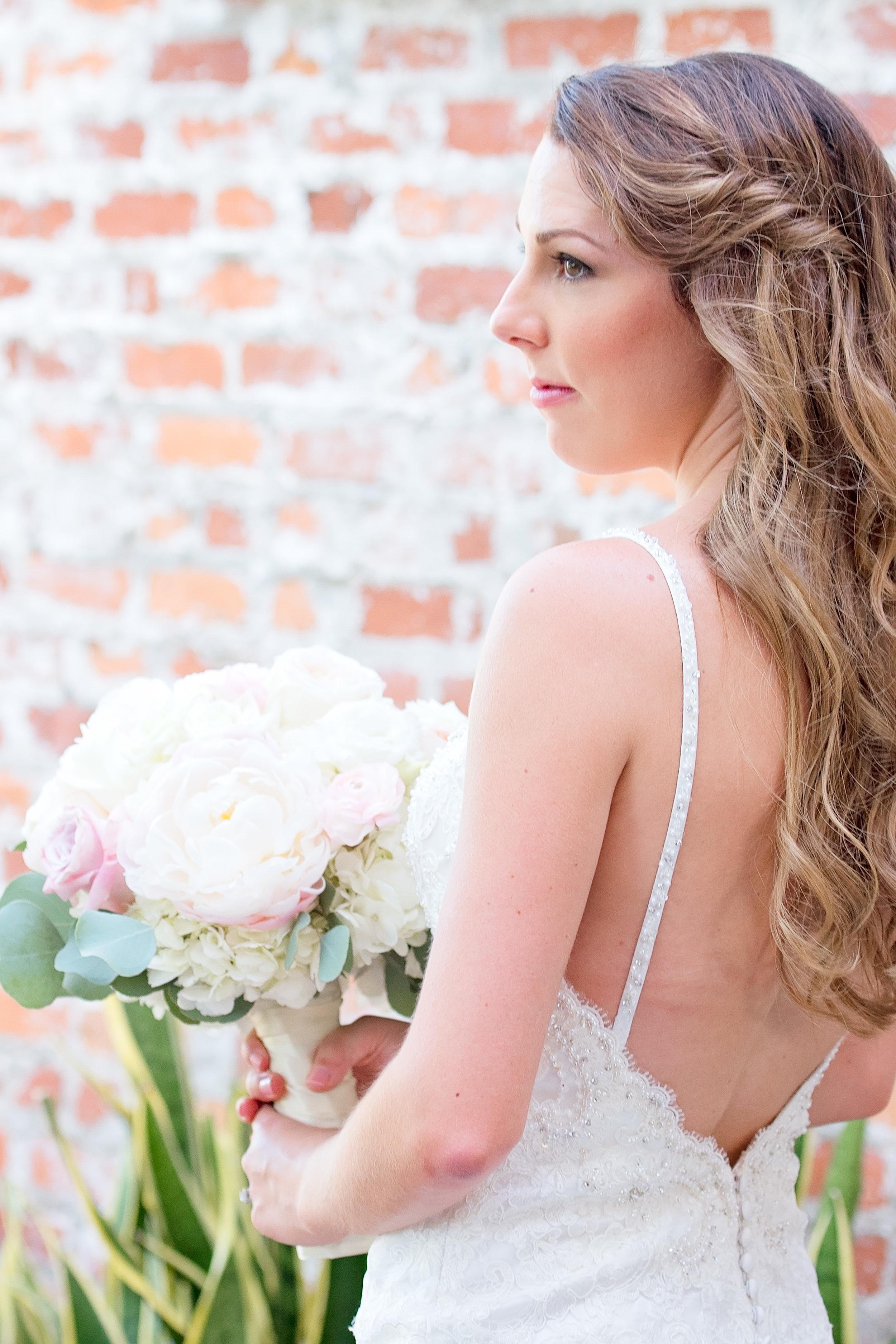 Low Back Wedding Dress - Blush and White Wedding - Los Feliz Wedding