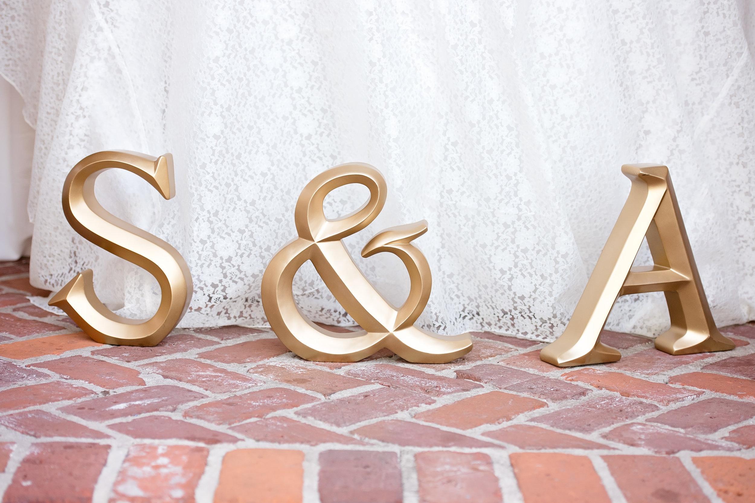Gold Wedding Decor - Blush and White Wedding - Los Feliz Wedding