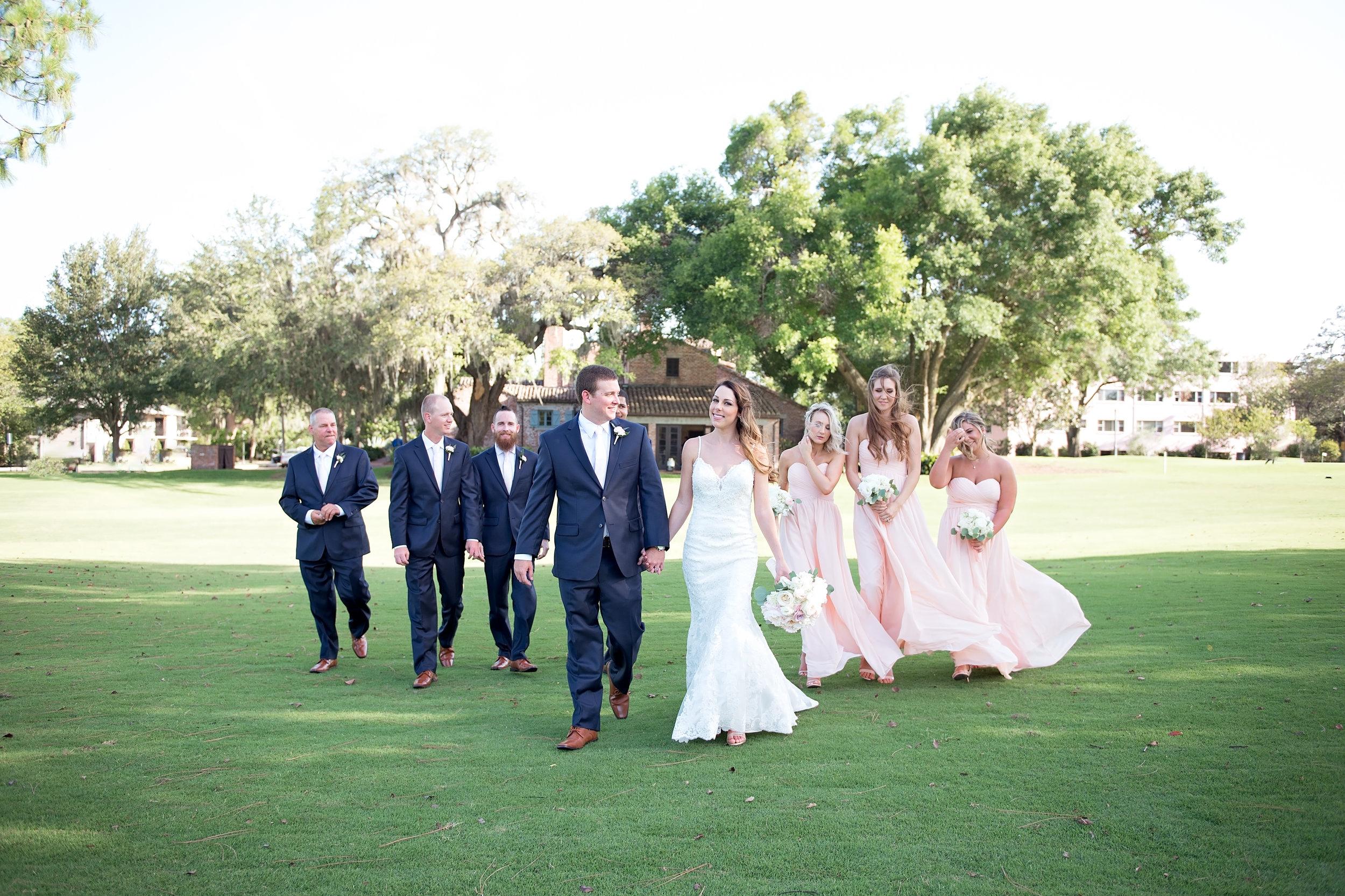 Blush Bridesmaid Dresses - Blush and White Wedding - Los Feliz Wedding