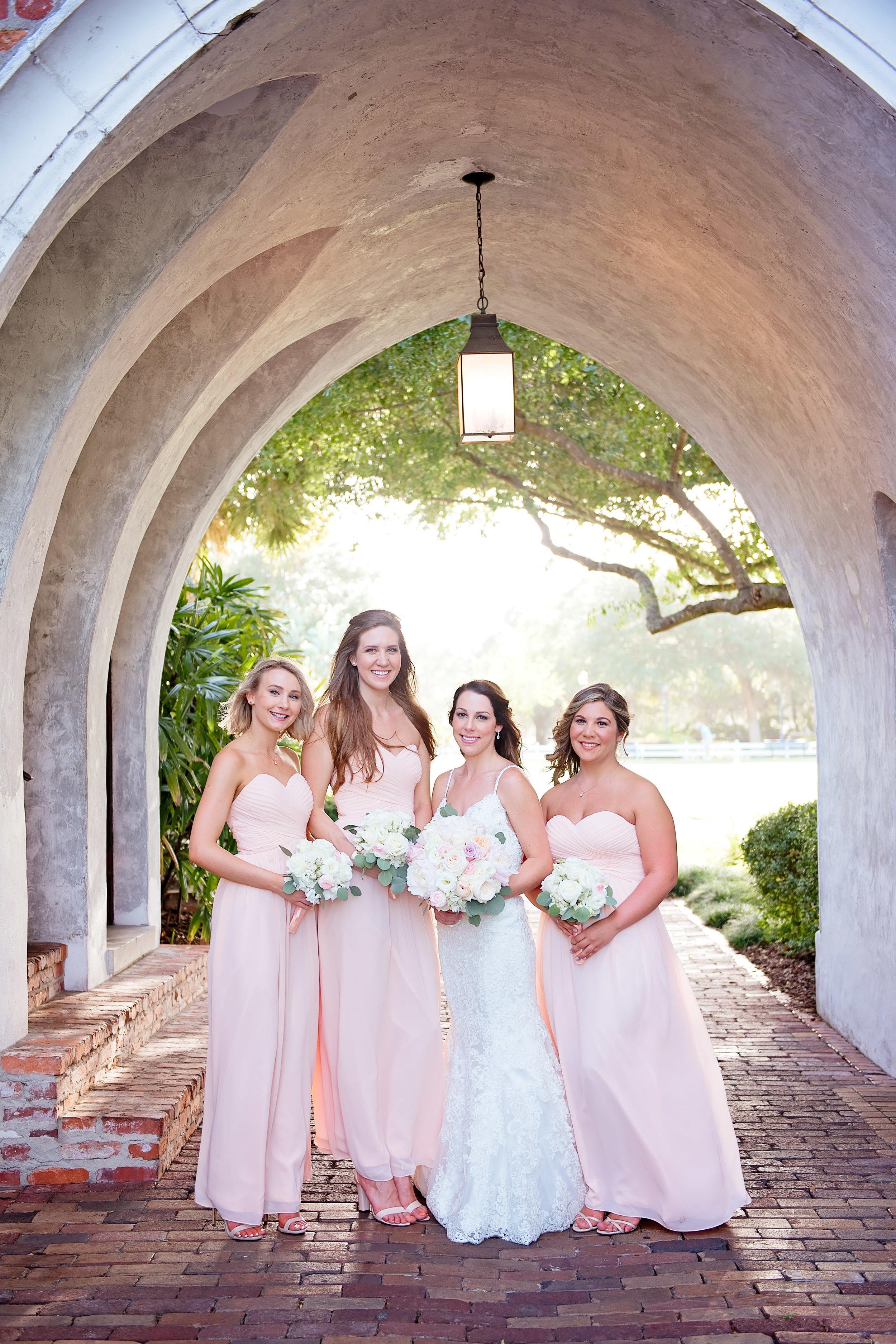 Bush Bridesmaid Dress - Blush and White Wedding - Los Feliz Wedding