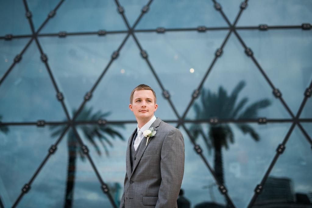 Grey Groomsmen Suits - Minimalist Wedding - Tampa Wedding Venue