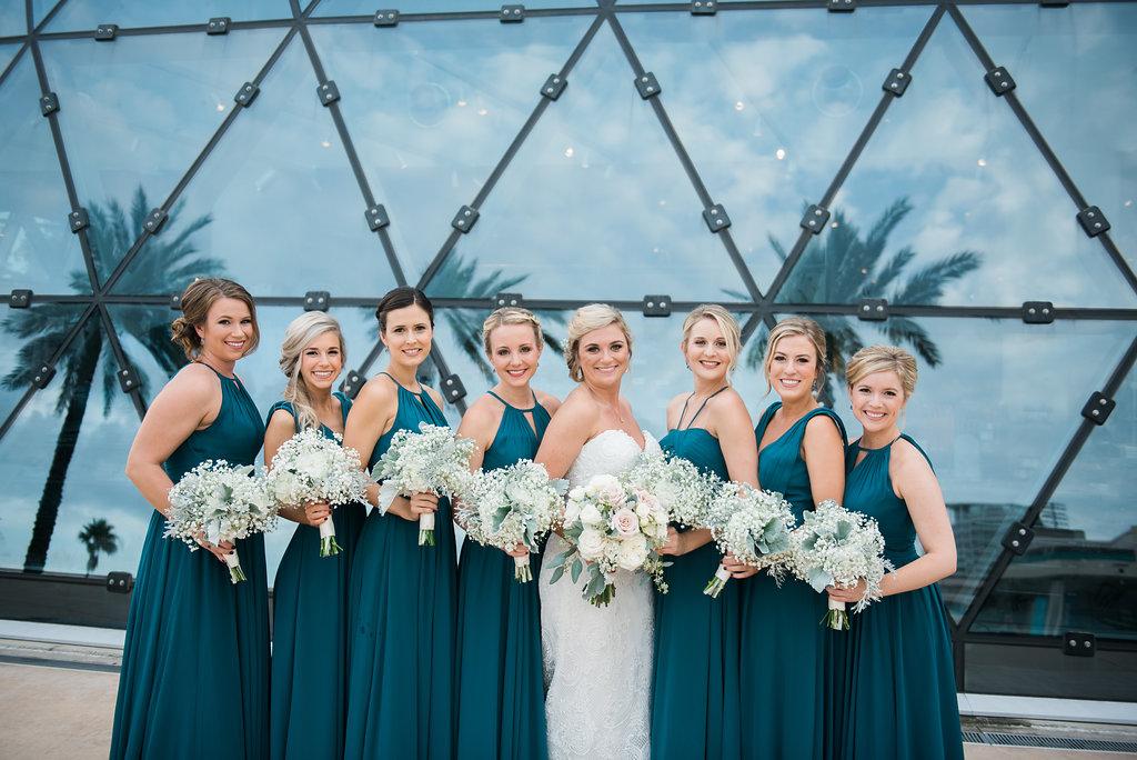 Navy Blue Briedsmaid Dresses - Minimalist Wedding - Tampa Wedding Venue