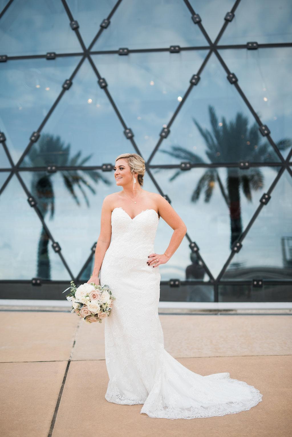 Lace Wedding Dress - Minimalist Wedding - Tampa Wedding Venue