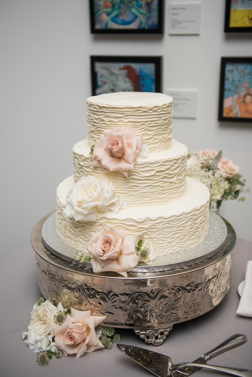 All White Wedding Cakes - Minimalist Wedding - Tampa Wedding Venue