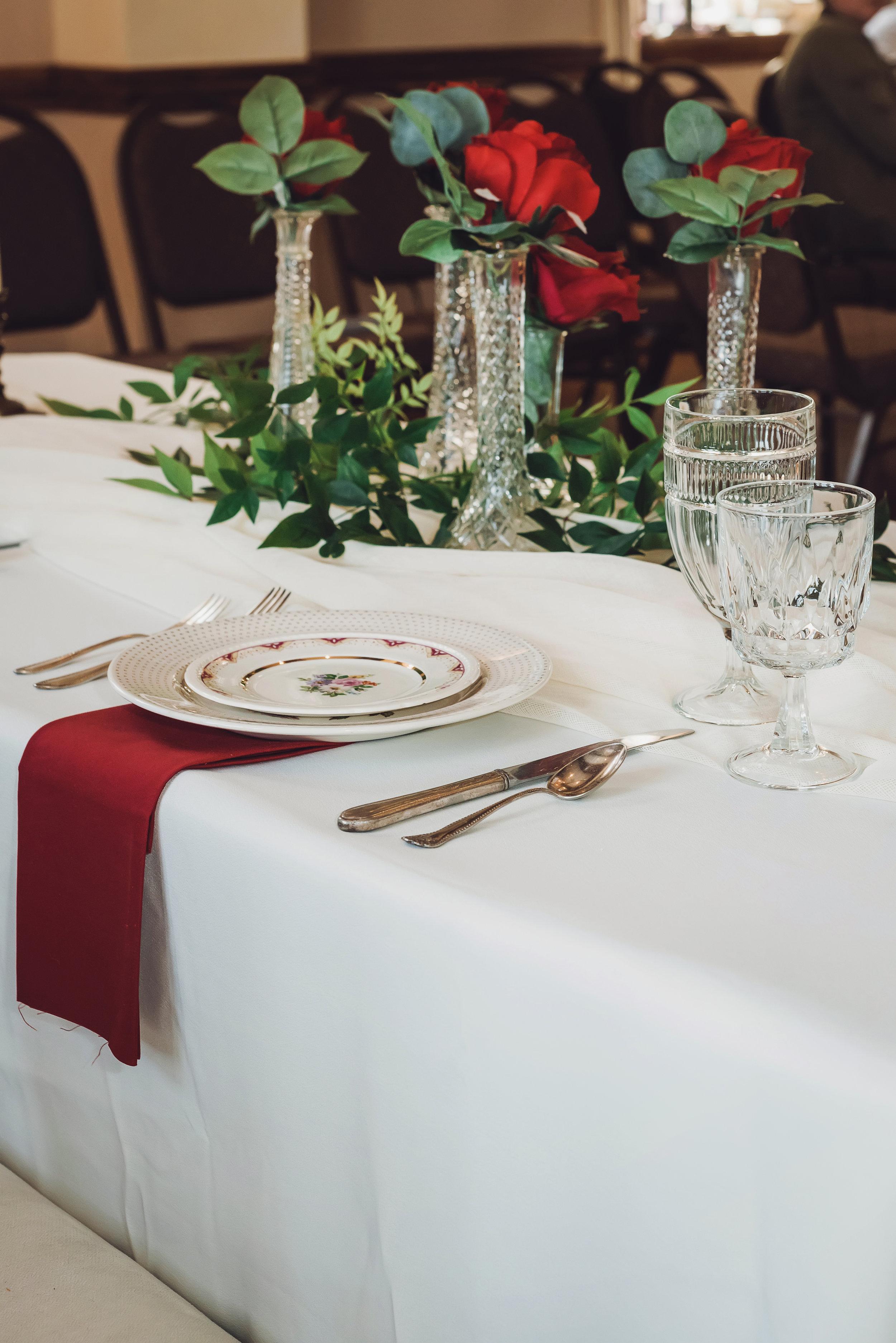 Classic Red and White Wedding -- University of Oklahoma Wedding