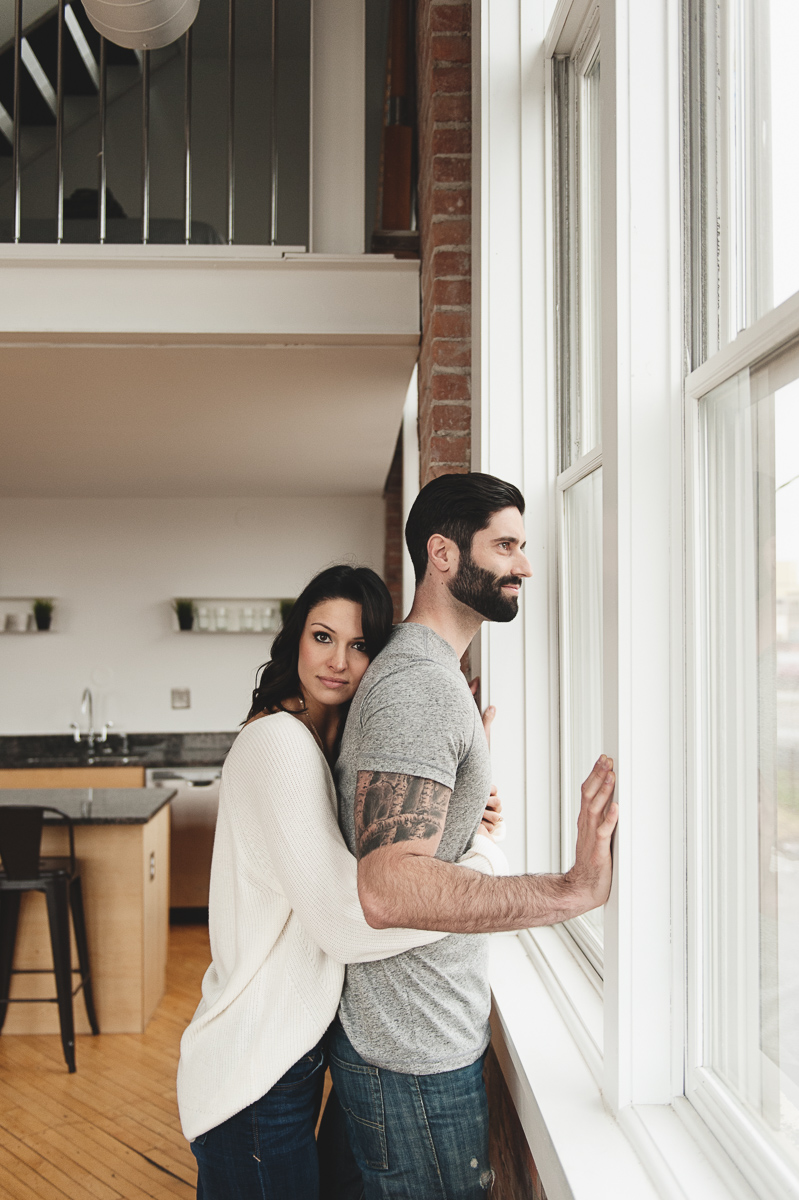 At Home Engagement Photos - The Overwhelmed Bride Wedding Blog