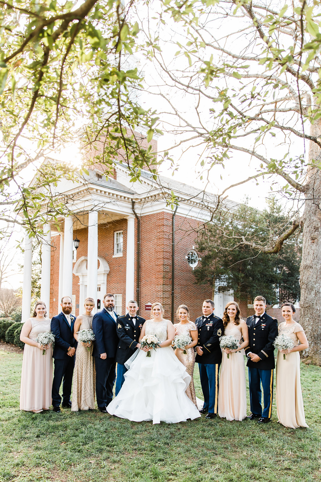 Navy + White Military Wedding - Raleigh, North Carolina Wedding Venue The Royal — The Overwhelmed Bride Wedding Blog