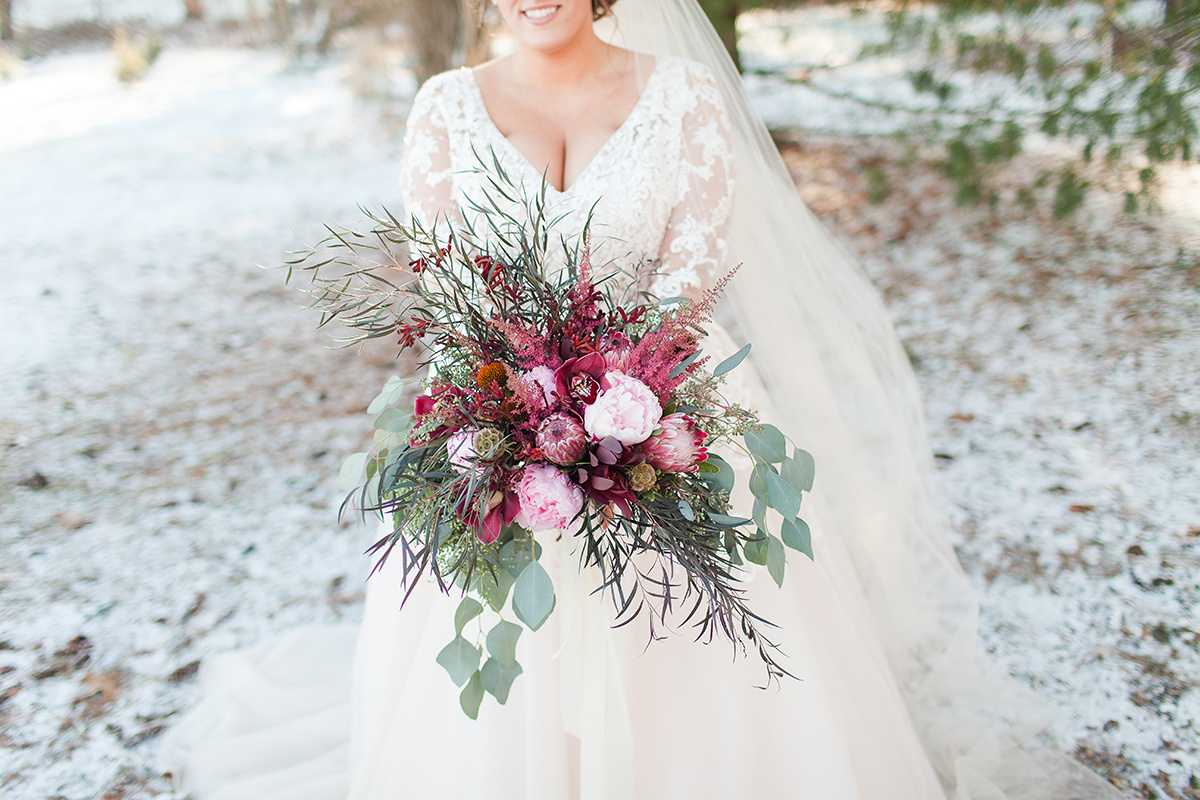 A Romantic Burgundy + White Wisconsin Winter Wedding — The Overwhelmed Bride Wedding Blog