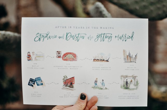 Unique Wedding Save the Dates - The Overwhelmed Bride Wedding Blog