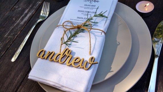 Unique Wedding Place Cards - The Overwhelmed Bride Wedding Blog