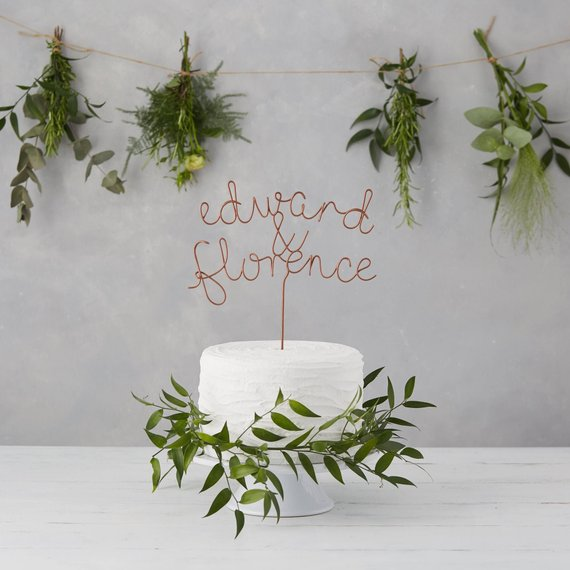 Unique Wedding Cake Toppers - The Overwhelmed Bride Wedding Blog