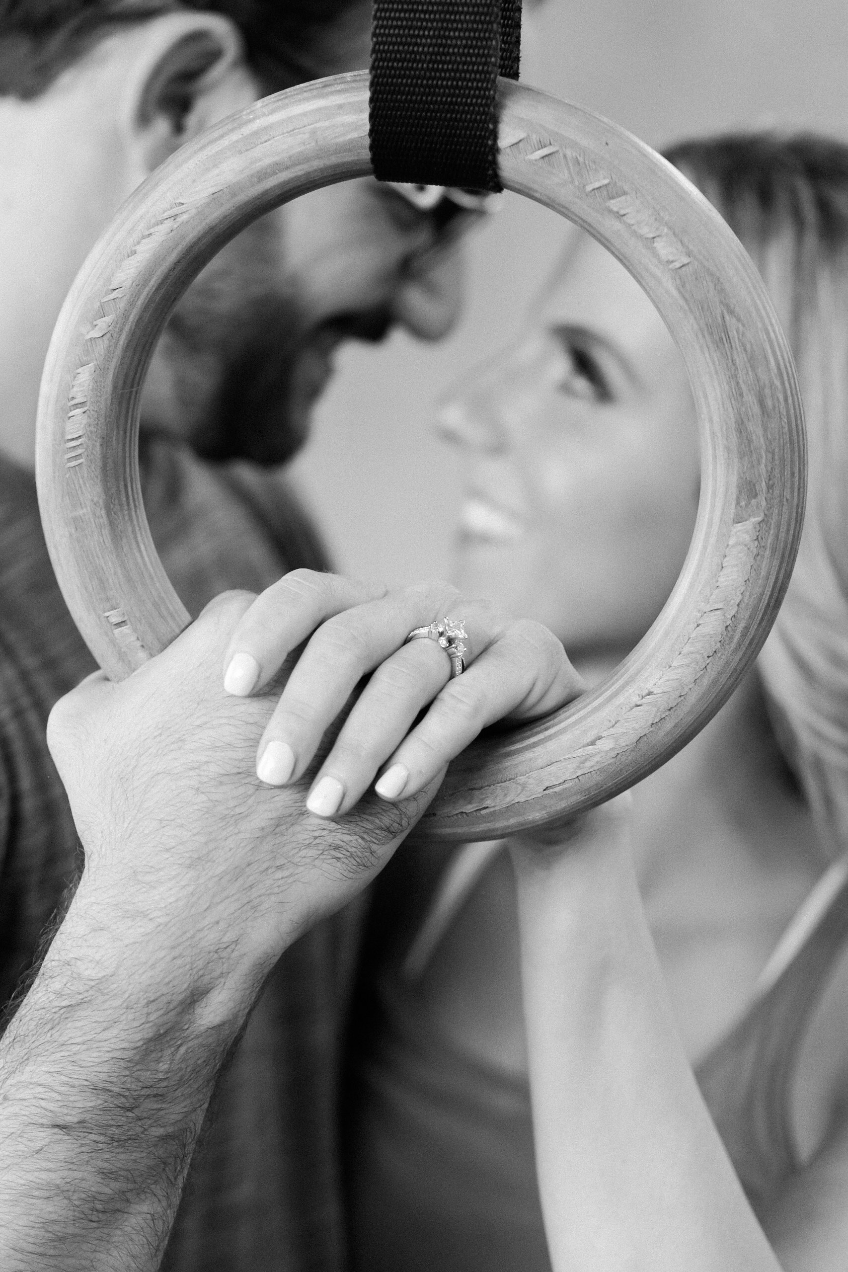 Fitness Crossfit Engagement Photos - The Overwhelmed Bride Wedding Blog