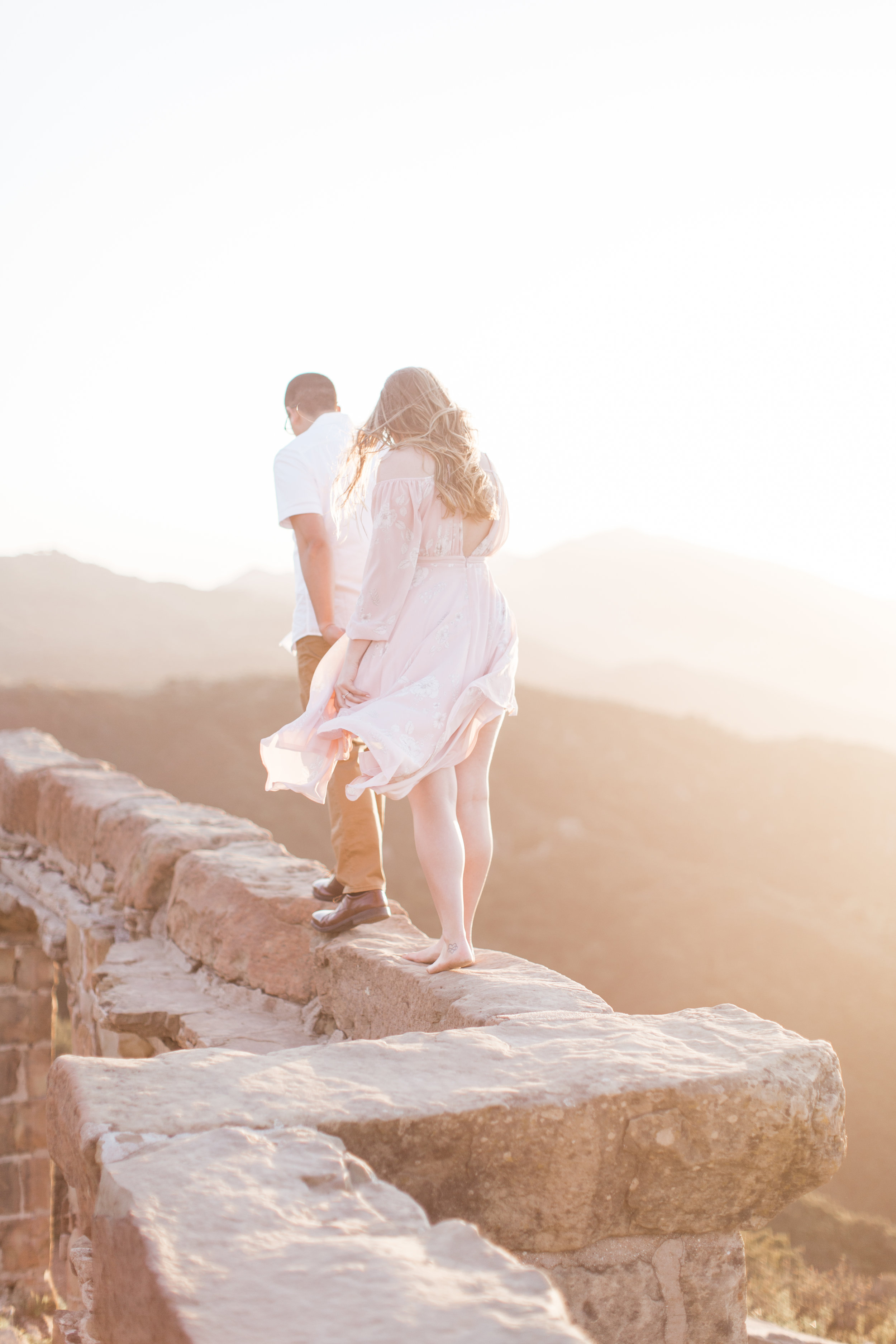 Santa Barbara Mountains Engagement Photos - The Overwhelmed Bride Wedding Blog