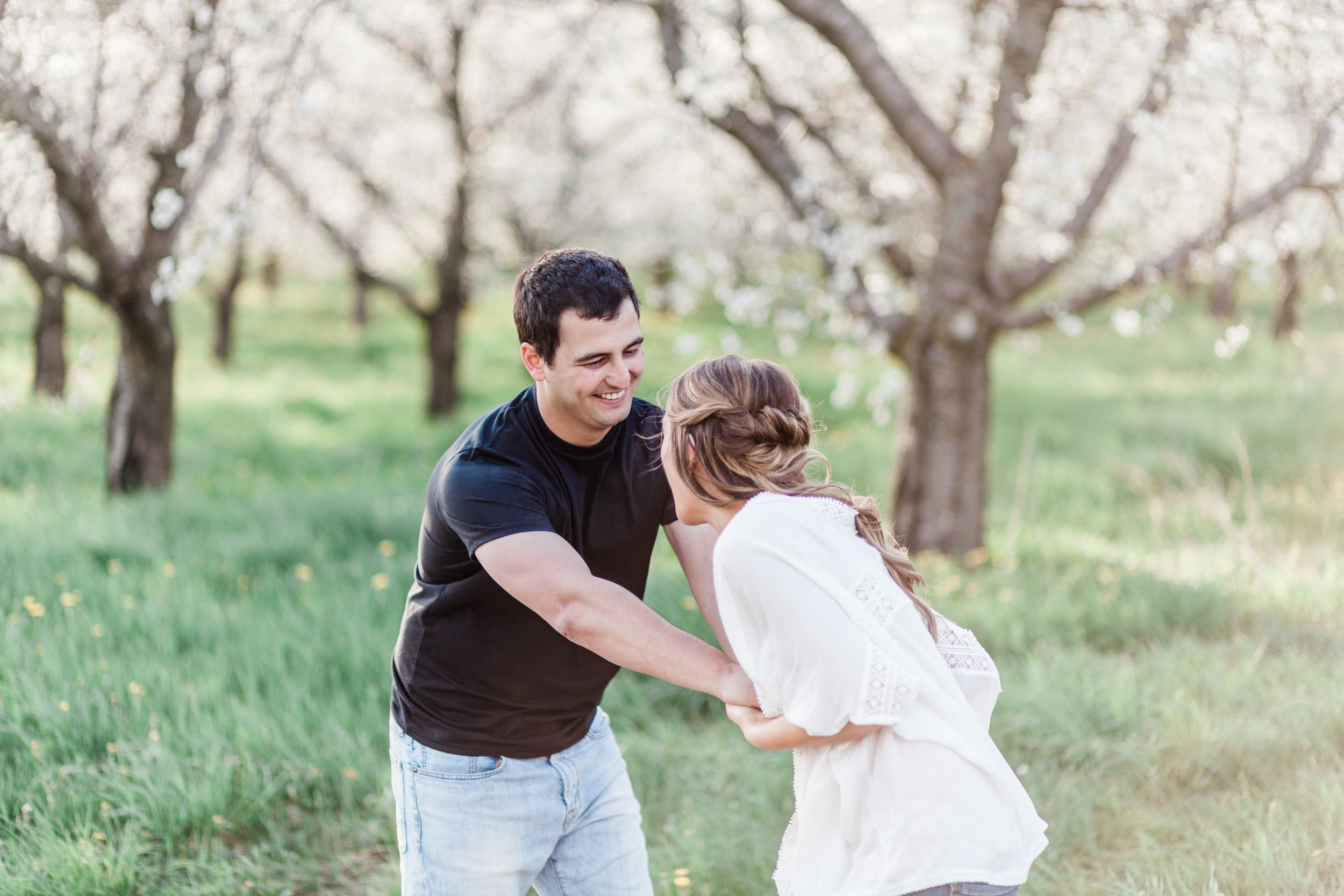 Gorgeous Garden Engagement Photos - The Overwhelmed Bride Wedding Blog