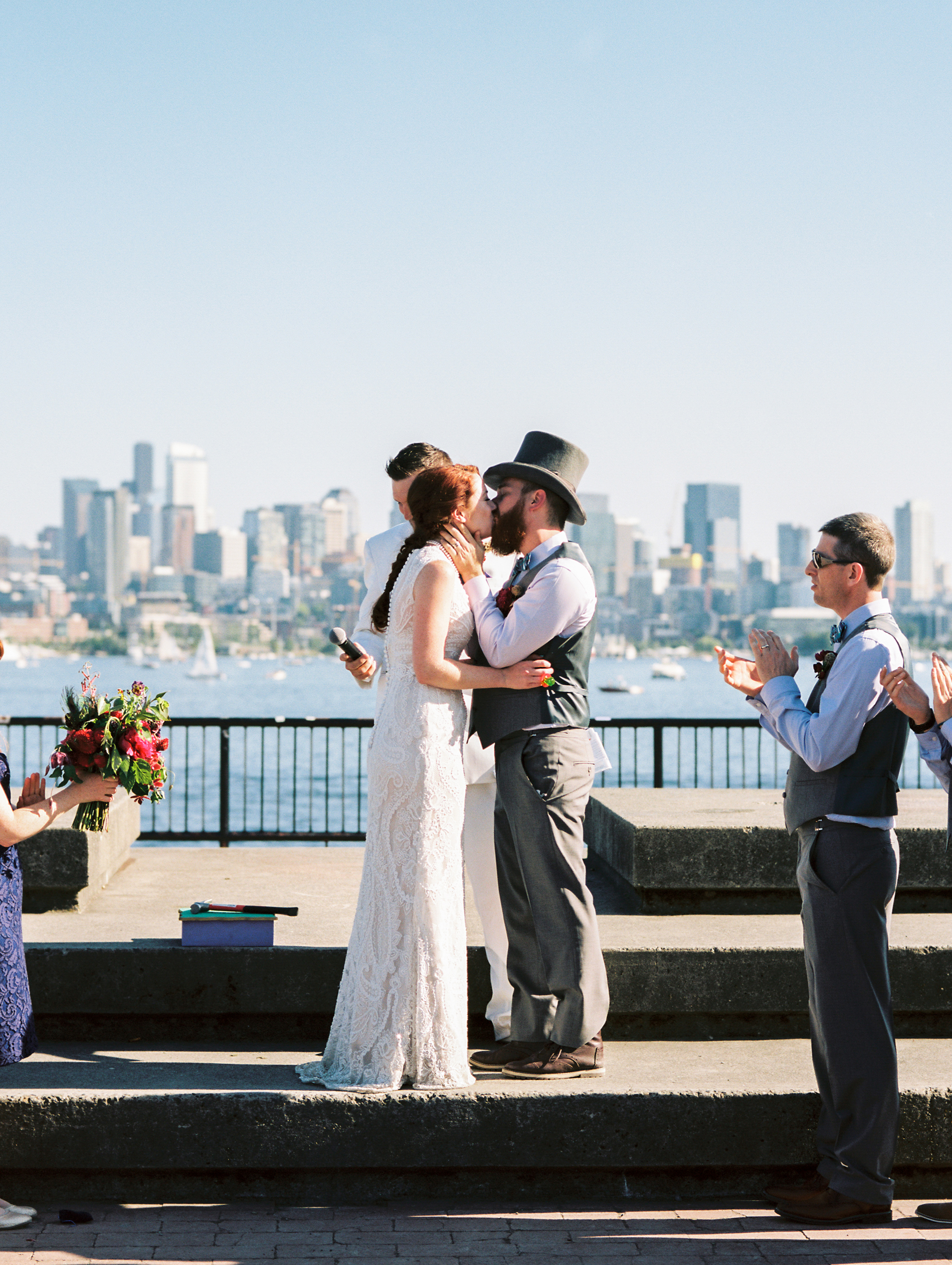 An Eclectic Mardi Gras Inspired Seattle Wedding - The Overwhelmed Bride Wedding Inspiration Ideas Blog