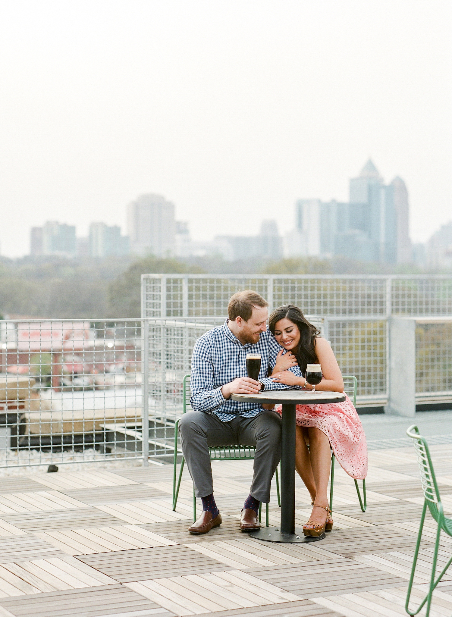 Beer Garden + Skyline Park Engagement Photos Atlanta - The Overwhelmed Bride Wedding Blog