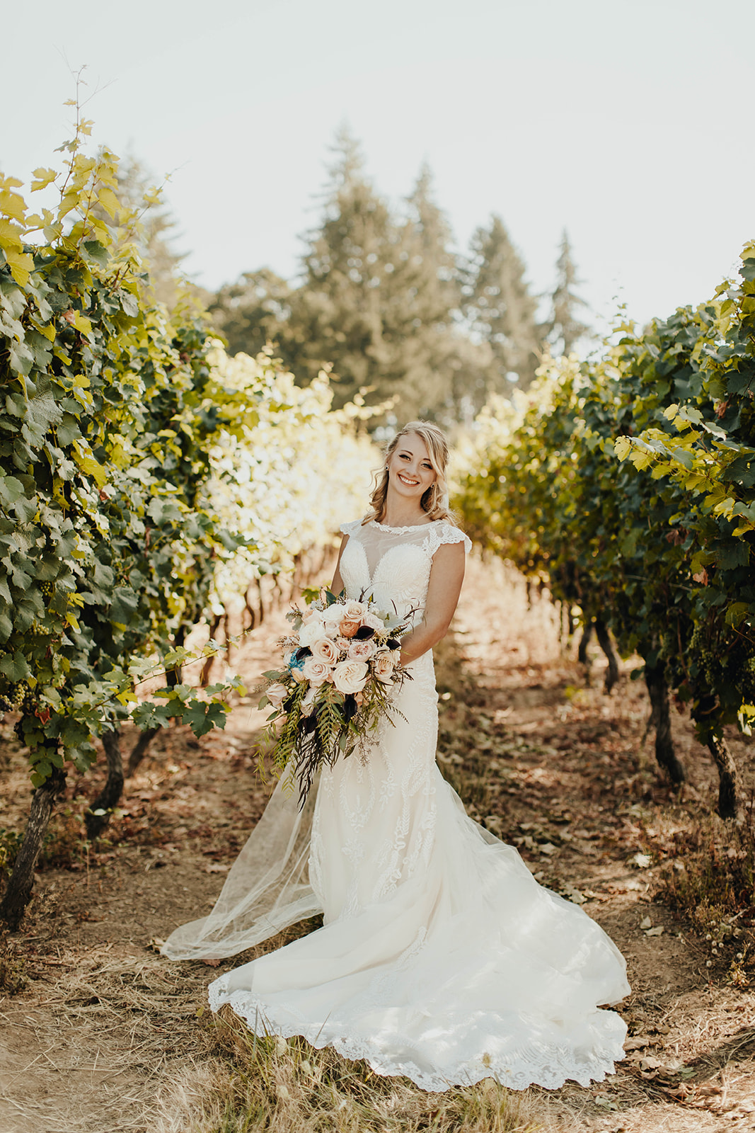 A Romantic Vineyard Wedding — The Overwhelmed Bride Wedding Ideas Inspiration Blog